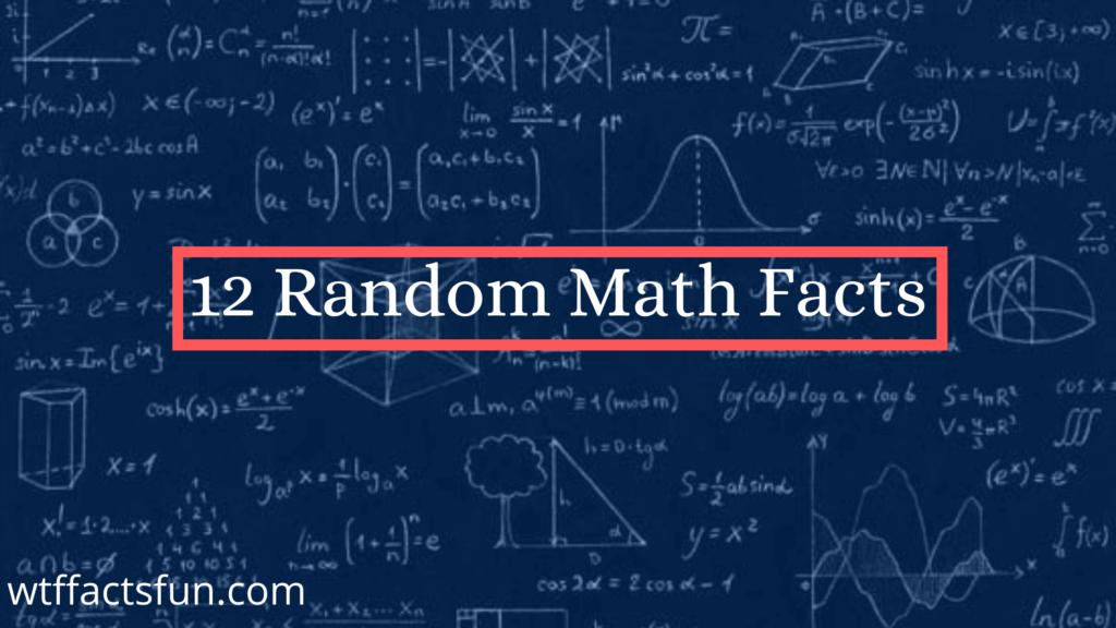 Random math facts