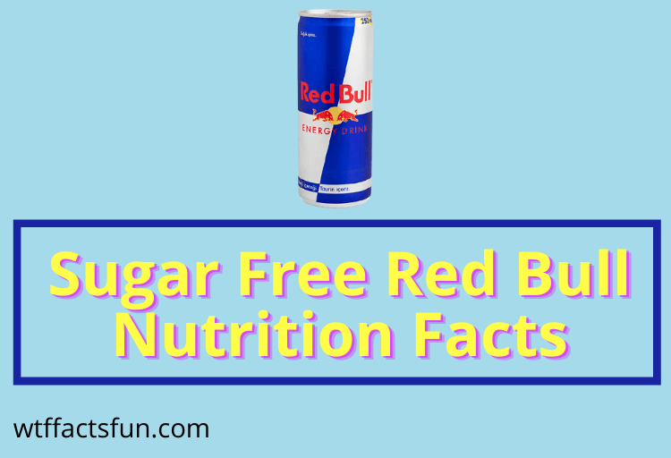 Sugar Free Red Bull Nutrition Facts